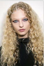 Stylish Sexy Gold Wig Mix Light Blonde Long Curly Hair Fashion Women NO LACE FRR