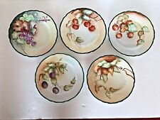 Antique CARMEN Salad Dessert Plates Set of 5 Floral Germany