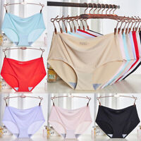 Women Sexy Ice Silk Panties Briefs Lingerie Seamless Underwear Knicker Plus Size