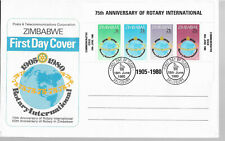 Zimbabwe 1980 Rotary International & Post Office Savings Bank First Day Covers