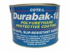 Durabak18 SMOOTH-Qt-Non Slip Coating, Bedliner, Deck Paint For ALL Boats-WHITE