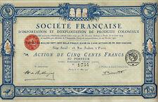 Dekorative Kolonialaktie von 1920