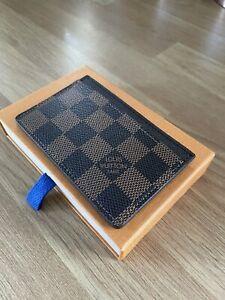 Genuine Louis Vuitton Damier Ebene Canvas Card Holder Excellent Condition