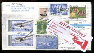DELTA BC 2009 Cover to Norfolk Island. Returned. Philatelic         (inv:p705)