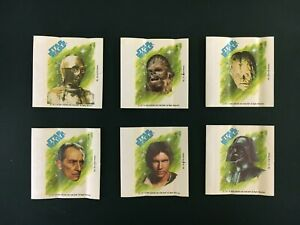 1977-78 Topps Star Wars Sugar Free Wrappers 26 27 28 29 30 31 Vader Han Chewie +