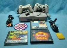 Playstation 1 PS1 console SCPH-9002 PAL 2 controllers 5 games