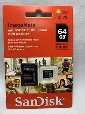 NEW SanDisk ImageMate 64GB MicroSDXC UHS-I Card with Adapter 619659170059