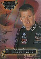 JEFF BURTON AUTOGRAPHED 1998 WHEELS HIGH GEAR RACING NASCAR PHOTO TRADING CARD