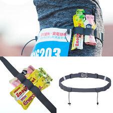 Outdoor Sports Triathlon Marathon Race Number Waist Belt Energy Gel Holder
