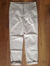 Zara Woman Beige High Waisted Chino Jeans Size M