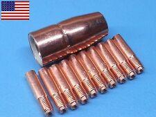 "000068 0.035"" Tips + 1/2"" MIG Nozzle 169-715 169715 For Miller® M10 M15 MIG Gun"