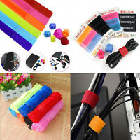 10PCs/Packet Straps Wrap Wire Cable Holder Tie Rope For PC TV Home Use