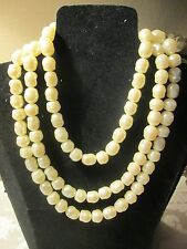 "VINTAGE AVON *PEARLESQUE CREAM NECKLACE* 52 1/2"" LONG*1987*NEW*RARE*HARD TO FIND"