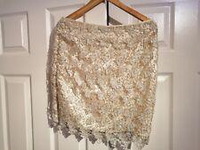 Gold Crochet Sequin Skirt