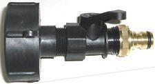 """IBC Adapter 3/4"""" Kugelhahn mit Gardena für IBC - Regenwasser Tank (Gewínde 60mm)"""