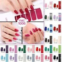 Nail Polish Stickers Pure Color Classical Strips Waterproof Adhesive Full Wraps