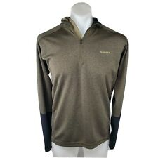 Simms Fly Fishing Long Sleeve Quarter Zip Shirt Breathable Men's Sz M EXCELLENT