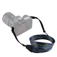 Cotton Camera Neck Shoulder Strap Belt Vintage for Canon Nikon Pentax Sony S