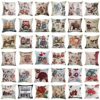 New Vintage Cotton Linen Pillow Case Sofa Waist Throw Cushion Cover Home Decor