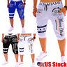 Men Summer Beach Sports Gym Pants Shorts Trousers Running Jogging Loose Pants US