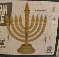 Menorah 3D Puzzle NEW 38-pieces No-Glue Wooden Wembley Jewish Candle Kit Wood