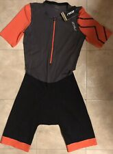 Nwt: 2Xu Women's Project X Tri Suit Orange And Gray Size Large L