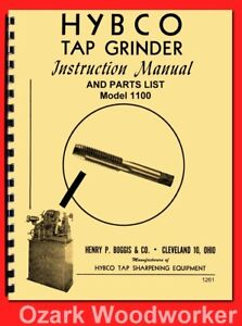 Hybco Model 1100 Tap Grinder Instructions & Parts Manual 1261