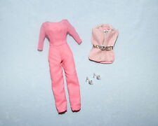 SOFT & STYLISH Pink & Silver Repro Genuine BARBIE Pants Outfit Jumper w/ Shoes
