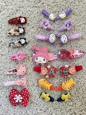 Girl's Hair Accessories Clips Hello Kitty Melody Huge Lot of 21
