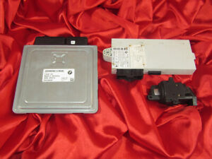 BMW E90 E91 E60 3 5'ies 2.5i N52 ENGINE ECU SET DME MSV70 CAS2 IGNITION KEY LOCK