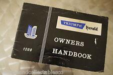 Original Triumph Herald 1200 Owers Manual