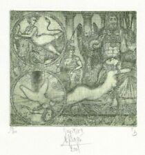 """HARR JÜRGENS: Exlibris für Giuseppe Mirabella, """"Jupiter II"""""""