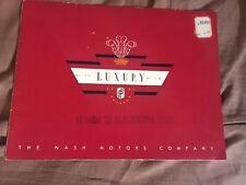 1936 Nash Ambassador Six & Eight LaFayette 400 Color Brochure Catalog Prospekt