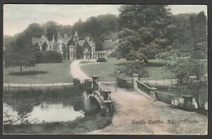 Postcard Castle Combe nr Chippenham Wiltshire the Manor House posted 1906
