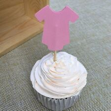 12 X O CUPCAKE/CAKE TOPPER PICKS / PINK BABY SHOWER/ PARTY