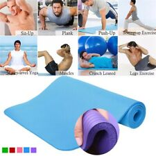 """Yoga mat 72"""" X 24"""" - 10mm Thick Durable Fitness Pilates Pad -with Carrying Strap"""
