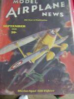 MODEL AIRPLANE NEWS SEPTEMBER 1936 BLERIOT SPAD 510  AIRCRAFT AEROMODELLER