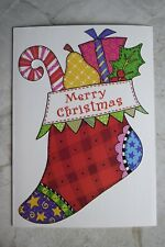 NEW Paper Magic Group Christmas Card Greeting Card--Patchwork Christmas Stocking