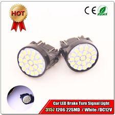 2X White T25 led lights 3157 car brake light 1206 22SMD 100lm Car Turn Light 12V