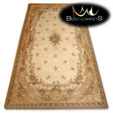 """NATURAL WOOL AGNELLA RUGS sahara flowers """"ISF"""" thick and durable carpet"""