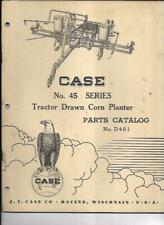 Case No 45 Series Tractor Drawn Corn Planter Parts Catalog No D461