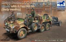 Bronco 1/35 Krupp Protze Kfz.69 & 3.7cm Pak 36 Gun (Early Type) w Photoetch