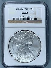 2006-W Silver American Eagle $1 * NGC MS69 * One Ounce * NO RESERVE