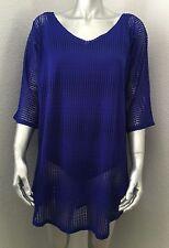 NEW O'Neill Women's Blanca Swim Cover Up Cobalt Blue Extra Small Small XS/S