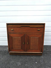 Mid Century Large Nightstand End Side Table Cabinet with pull out Tray  6648