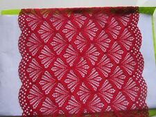 Rot elastisch 23,5cm Breit elegante Spitze Borte tolle angebot selten