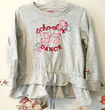 School Of Dance Top Long Sleeve Gray Shirt sweat OshKosh Girl 110cm 4T cotton