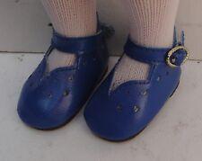 Chaussure bleu 6cm pour poupée ancienne moderne et vintage