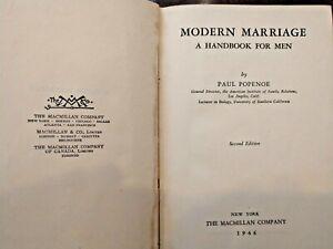 Modern Marriage A Handbook for Men - Paul Popenoe Hardback 1946