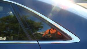 AUDI A8 LEFT REAR SIDE GLASS, D3, 09/03-08/10